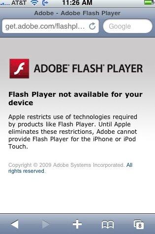 flash auf dem iphone